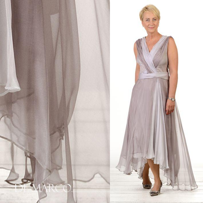 7c5f50e20a Jedwabna sukienka dla mamy wesela. De Marco Władysława Frączek ekskluzywna  odzież damska. Najpiękniejsze fasony