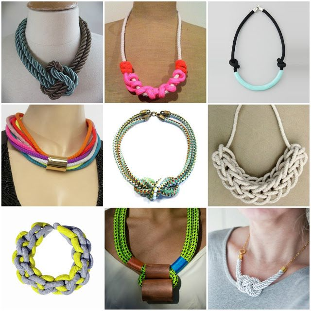 Goes & Comes: DIY- Collar de Lazo / Rope Necklace