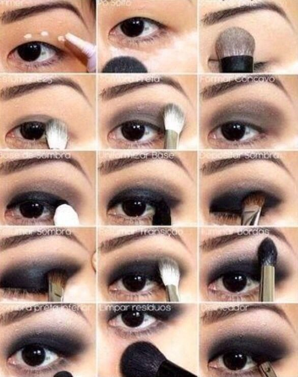 Eye · Black Eye Makeup Tutorial Black smokey ...
