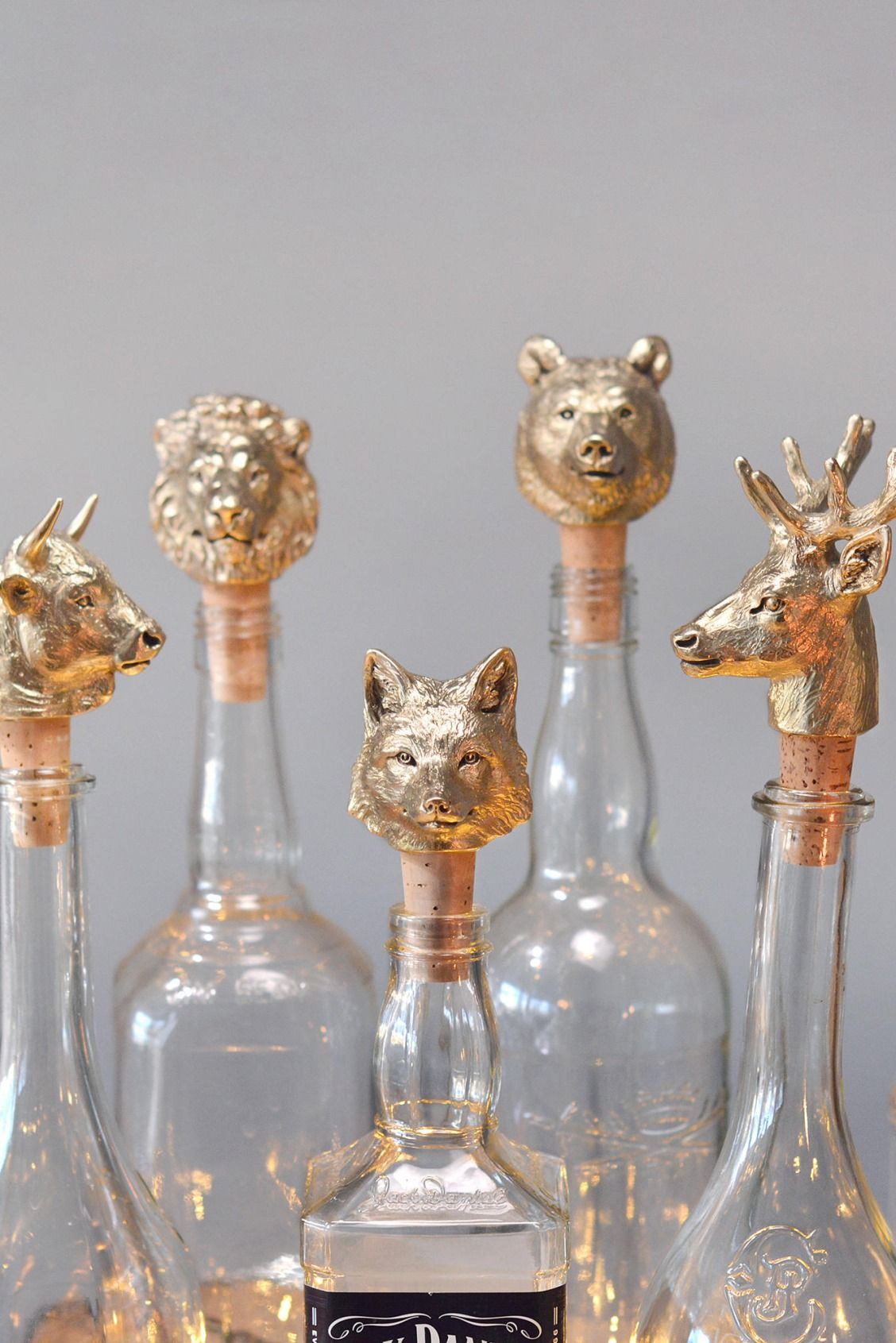 Bottle Stopper Fox Diy Art Upcycled Crafts Diy Decor