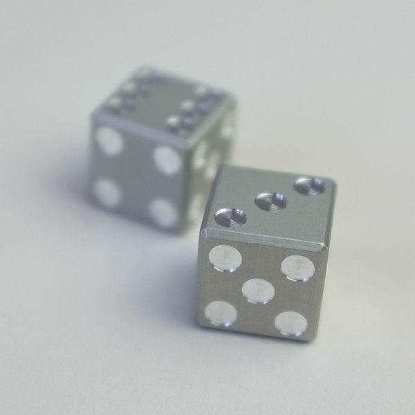 Machined Aluminum Dice••Cool Material