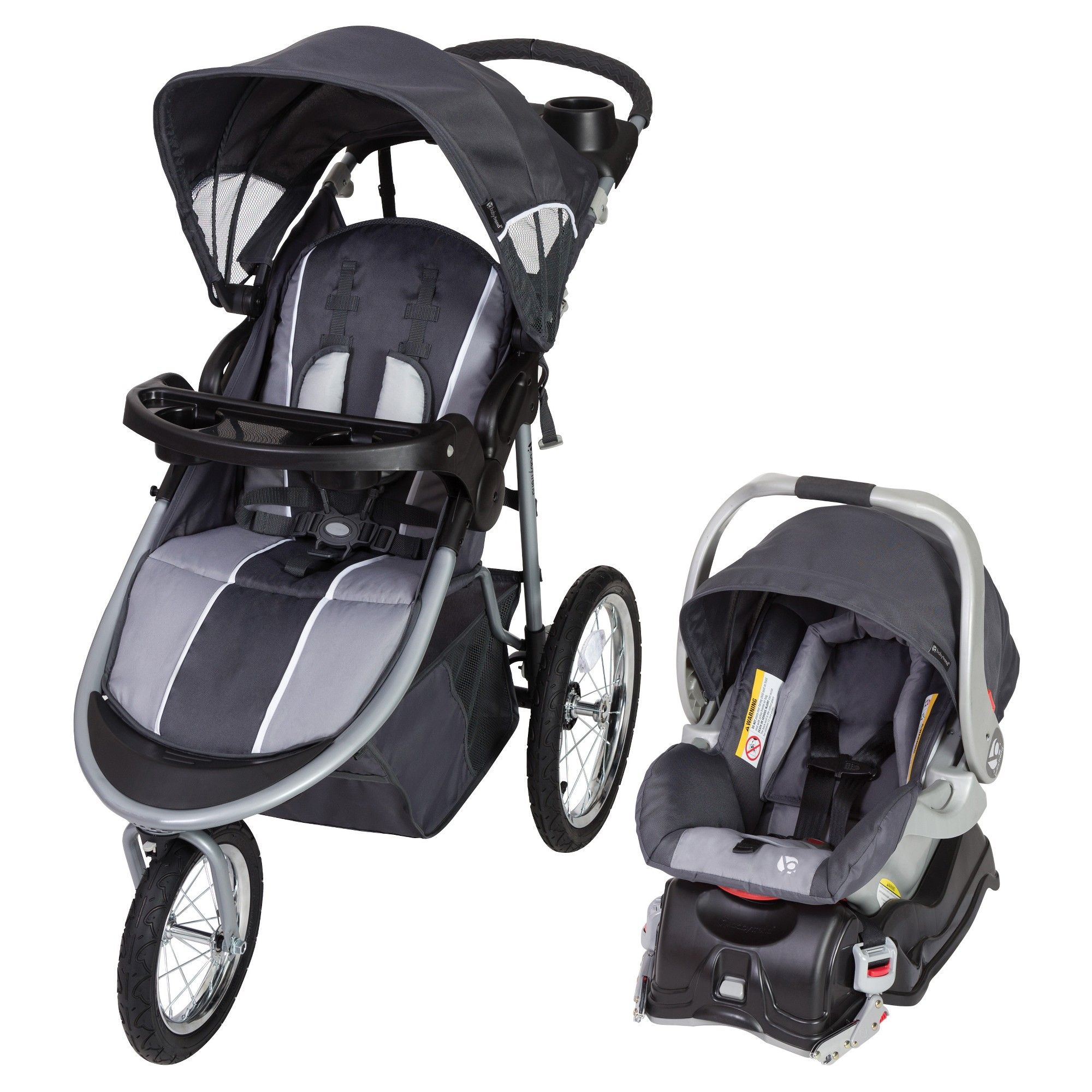 Baby Trend Jogger Travel System Gray Baby trend, Travel