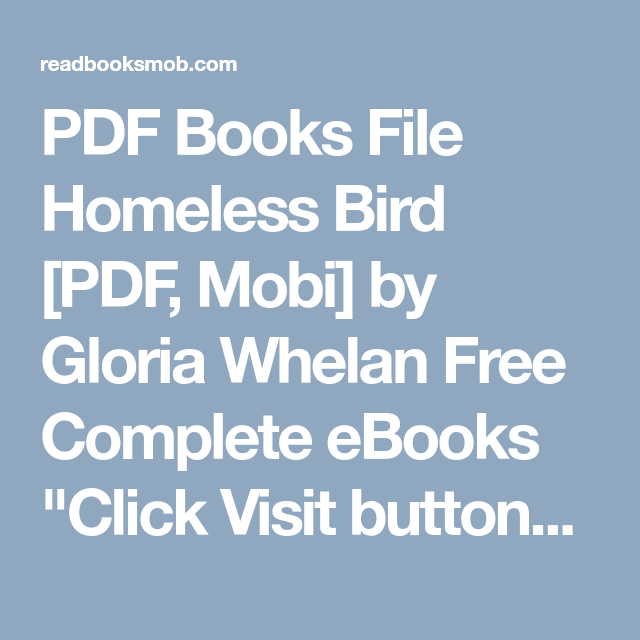 Pdf books file homeless bird pdf mobi by gloria whelan free pdf books file homeless bird pdf mobi by gloria whelan free complete ebooks fandeluxe Images