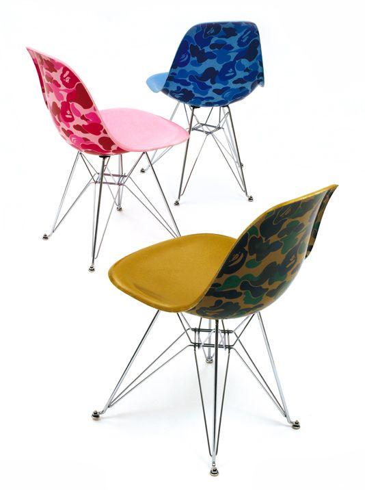 1871b80d BAPE x Modernica - BAPE Camo Side Chair | Home Sweet Home | Eames ...
