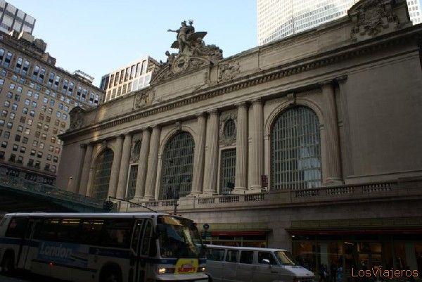 Fachada principal de la Gran Estación Central - Nueva York - USA