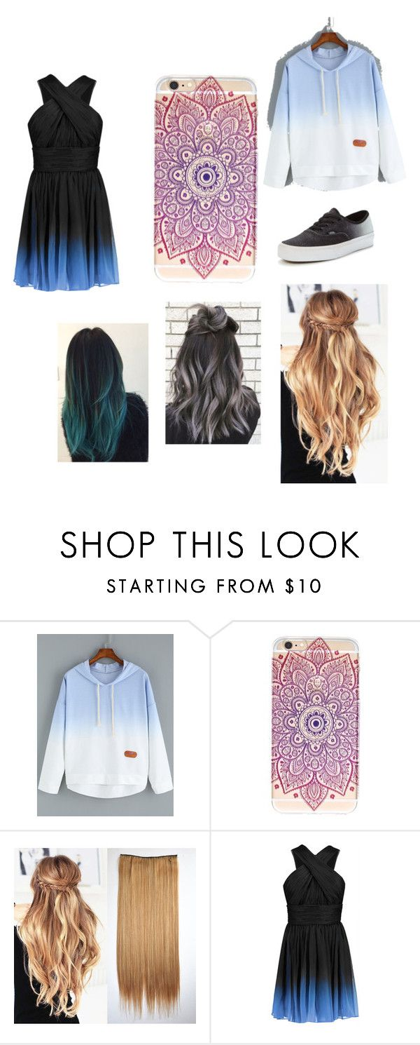 """""""ombre"""" by crispyturtle ❤ liked on Polyvore featuring Halston Heritage and Vans"""
