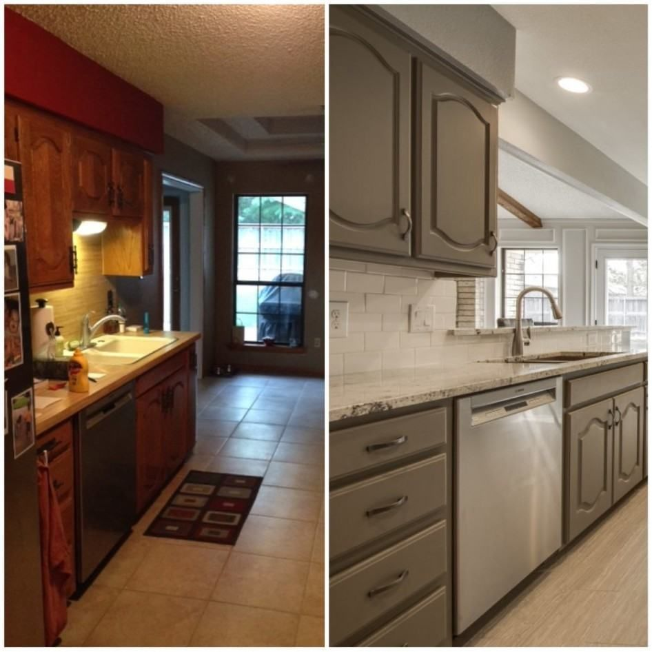 used kitchen cabinets dallas tx cast iron sink news wilkinskennedy com 1970 s reimagined project before and afters in custom