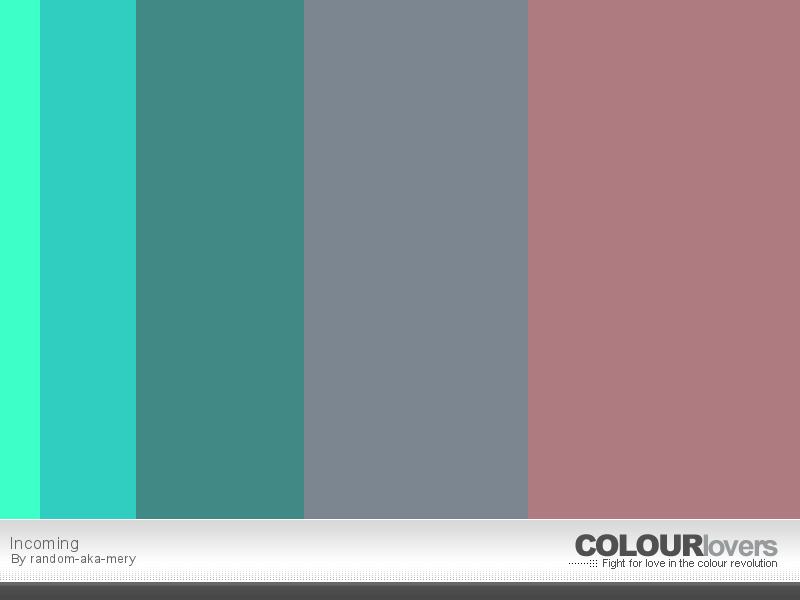 Color Palette: green, grey, pink, contrast.