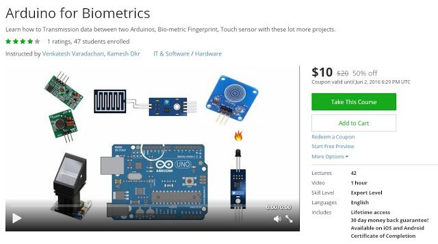 Coupon Udemy - Arduino for Biometrics [$10 Only] - Course Discounts & Free