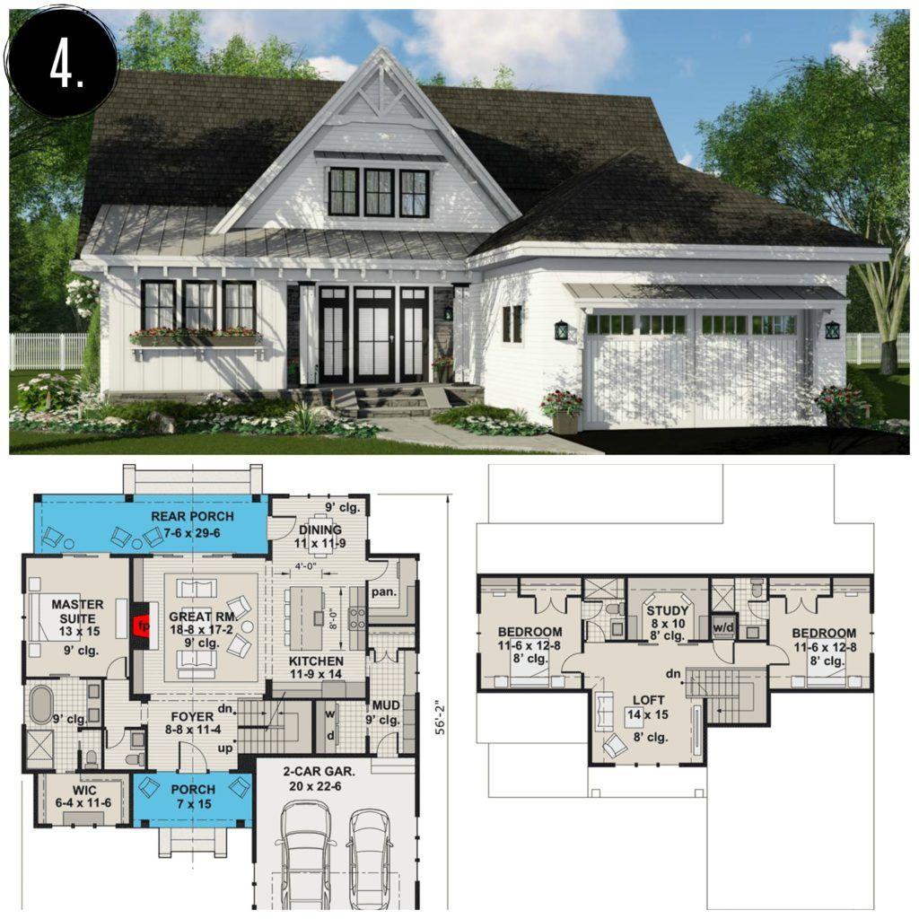 10 Amazing Modern Farmhouse Floor Plans Farmhousefloorplan Modern Farmhouse Floorplan Farmhouse Floor Plans Farmhouse Flooring