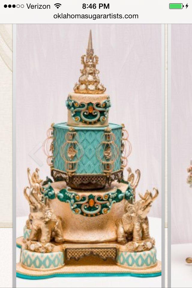 Elaborate, Indian themed  elephant cake