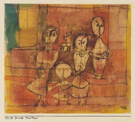 Paul Klee, Kinder und Hund (1920) on ArtStack #paul-klee #art