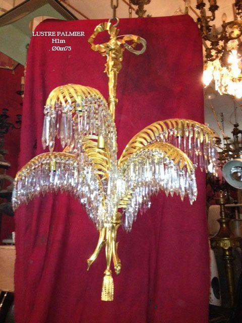 Lustre Palmier Napoleon III Carpentier Antiquités #lustre #napoleonIII