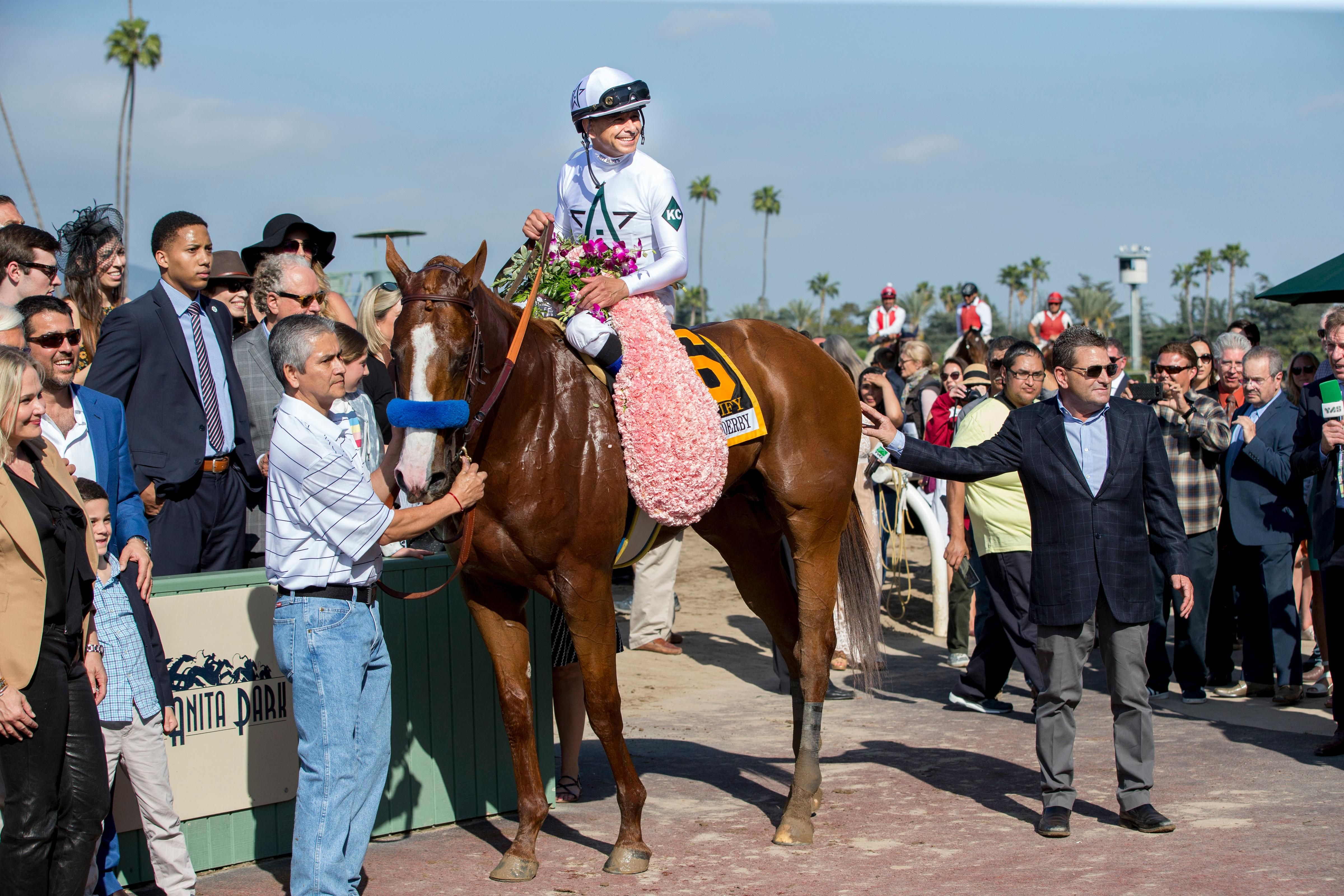Justify And Connections In The Santa Anita Derby Winner S