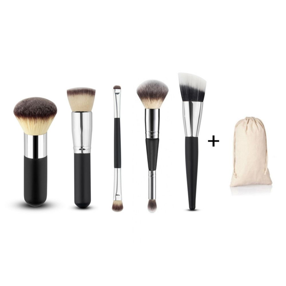 5Pcs Makeup Brushes High Quality Blush Contour Brush Cosmetics Eyeshadow  Angled Brush Cleaner Women Beauty Tools de6ac0807a