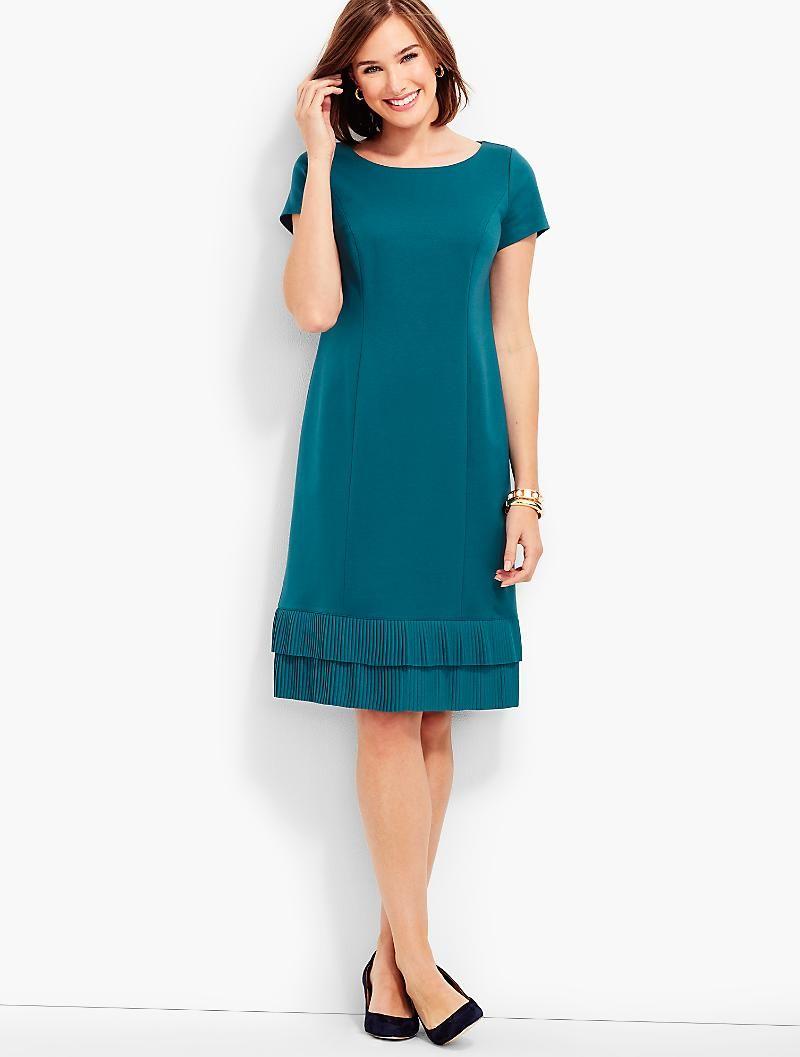 Ponte Amp Crepe A Line Dress Talbots Beautiful Dresses For Women Clothes For Women Dresses [ 1057 x 800 Pixel ]