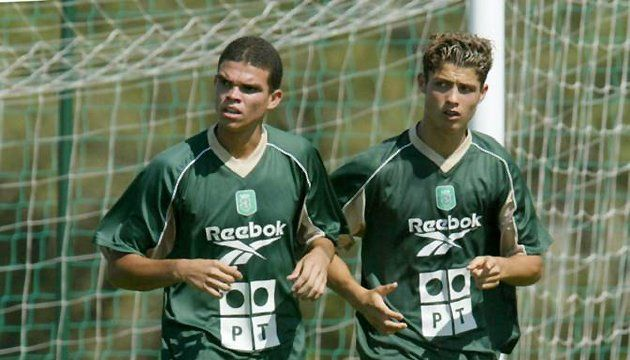 Pepe   Cristiano Ronaldo playing at Sporting Lisboa. Now both play in Real  Madrid 8664b7846
