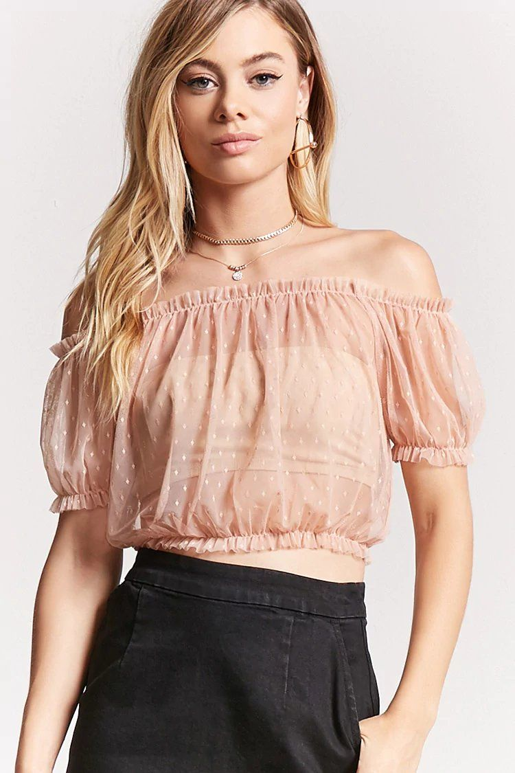 Sheer Off-the-Shoulder Top | Forever21 | forever 21| the latest ...