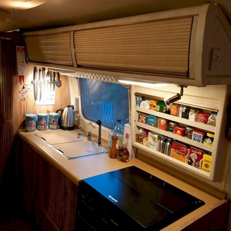 Wohnmobil Küchen 93+ Smart Design Rv Camper Storage Ideas | Rv Kitchen ...