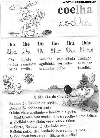 21 Textos Para Imprimir Cartilha Alegria Do Saber Educacao