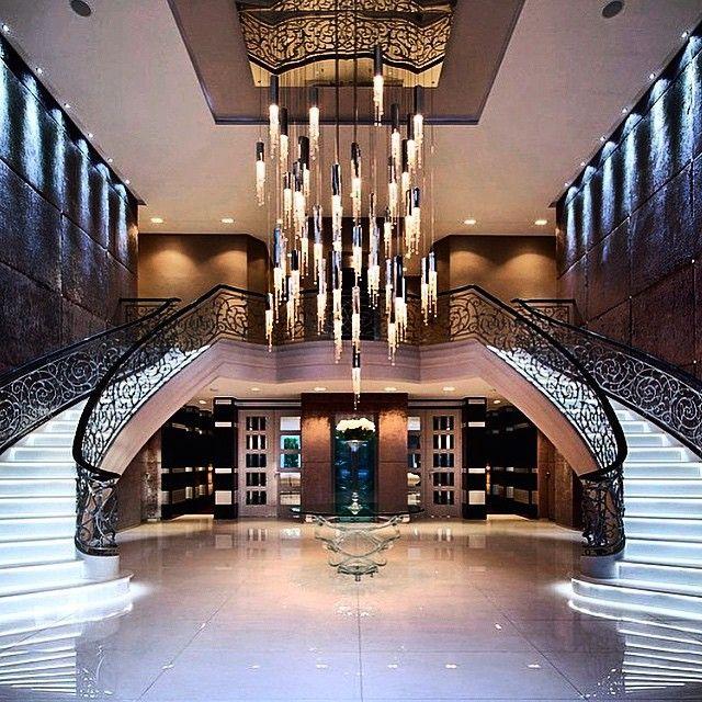 Mega Homes On Instagram 100 000 000 Mega Mansion Entrance Megahomes House Luxury Interior Design Luxury Interior
