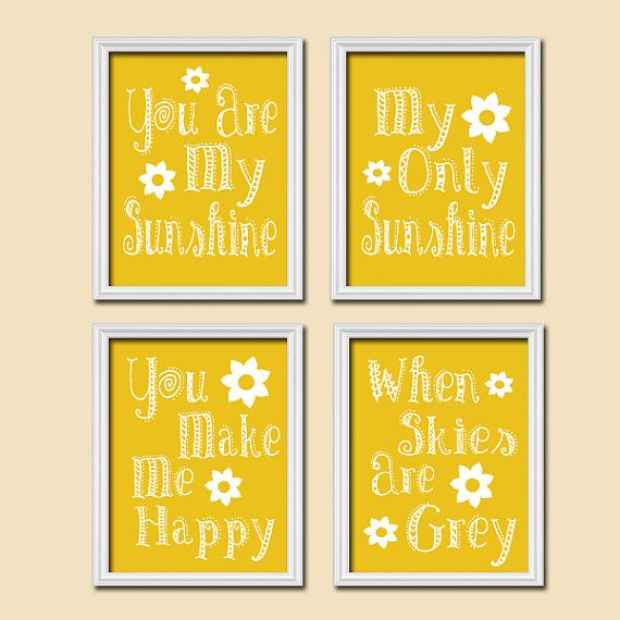 You Are My Sunshine Wall Art Decor Canvas by SunshinePrinting ...