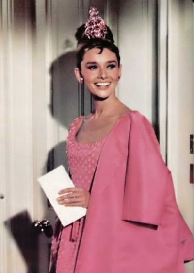 Breakfast At Tiffany S Outfits Pink Party Dress Sparkle Audrey Hepburn