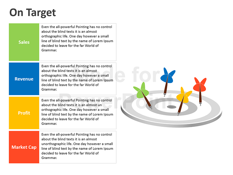 Editable Powerpoint Template On Target Diagram Template