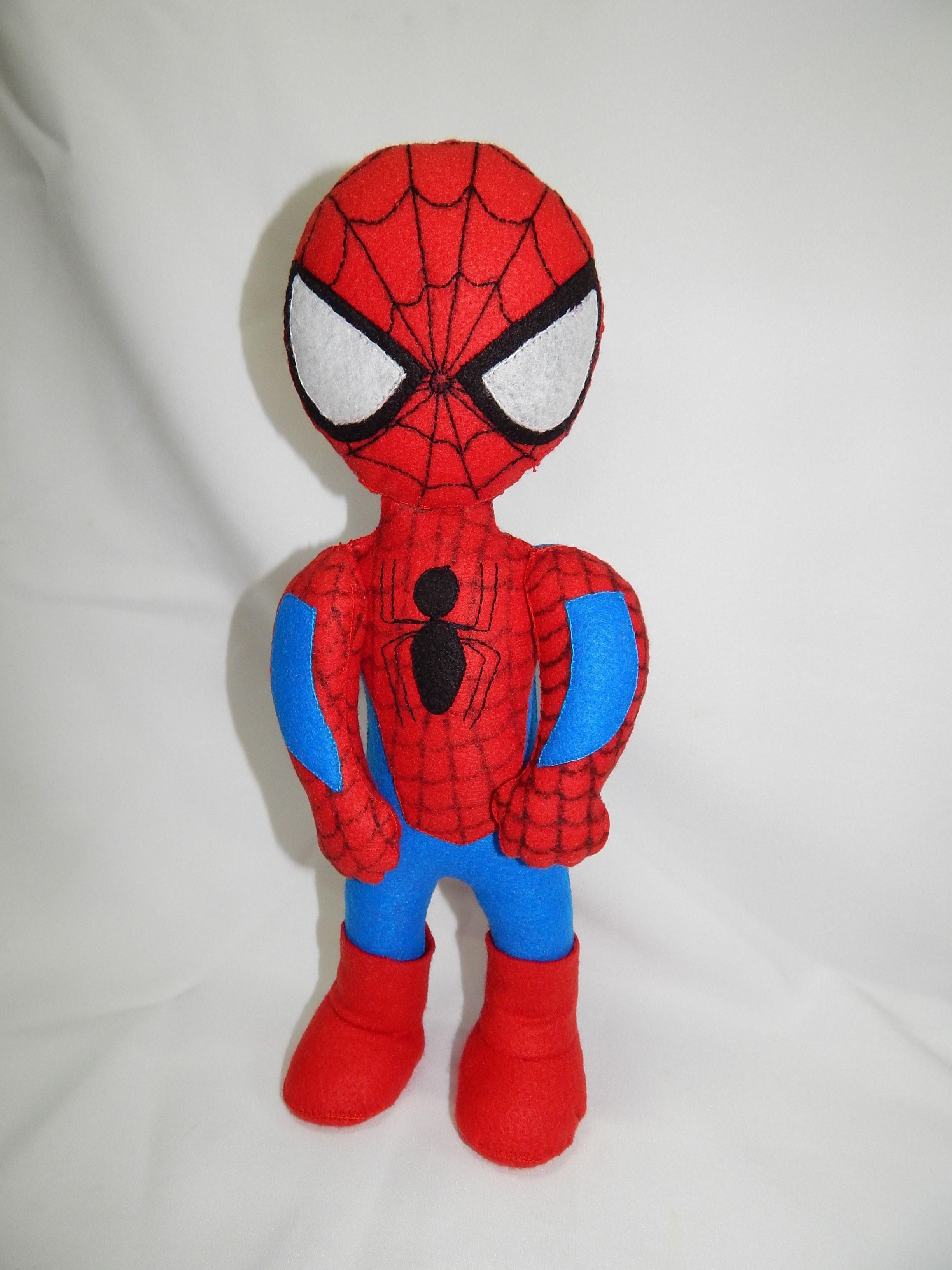 Homem-Aranha Feltro - 35 cent. de altura.