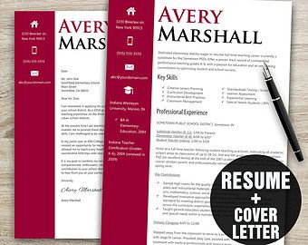 Classy Resume Template / Instant Download Resume Cover Letter Template / Resume  Template Word / CV Template By BusinessBranding