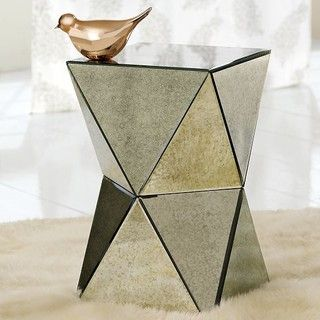 Beau Faceted Mirror Side Table   By West Elm