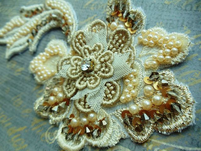 Ivory Gold Applique by Magical Mystery Tuca, via Flickr