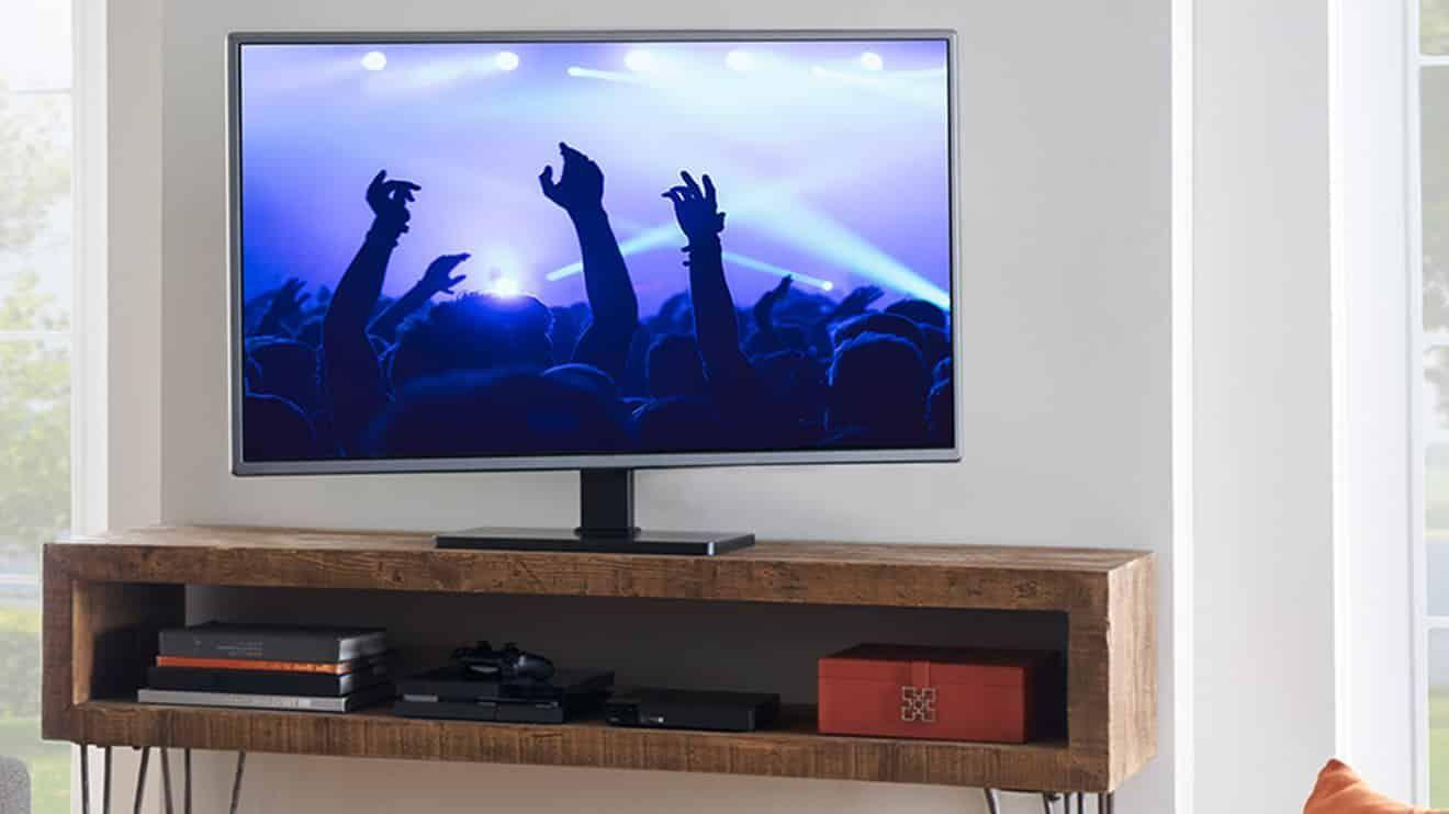 DLNA connected TV Setup screen