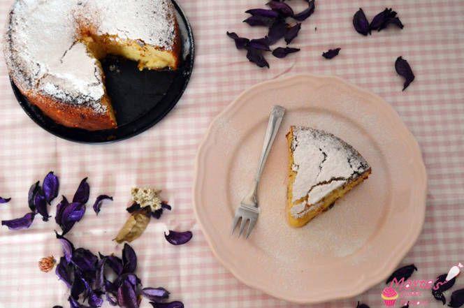Pastel de coco y chocolate blanco