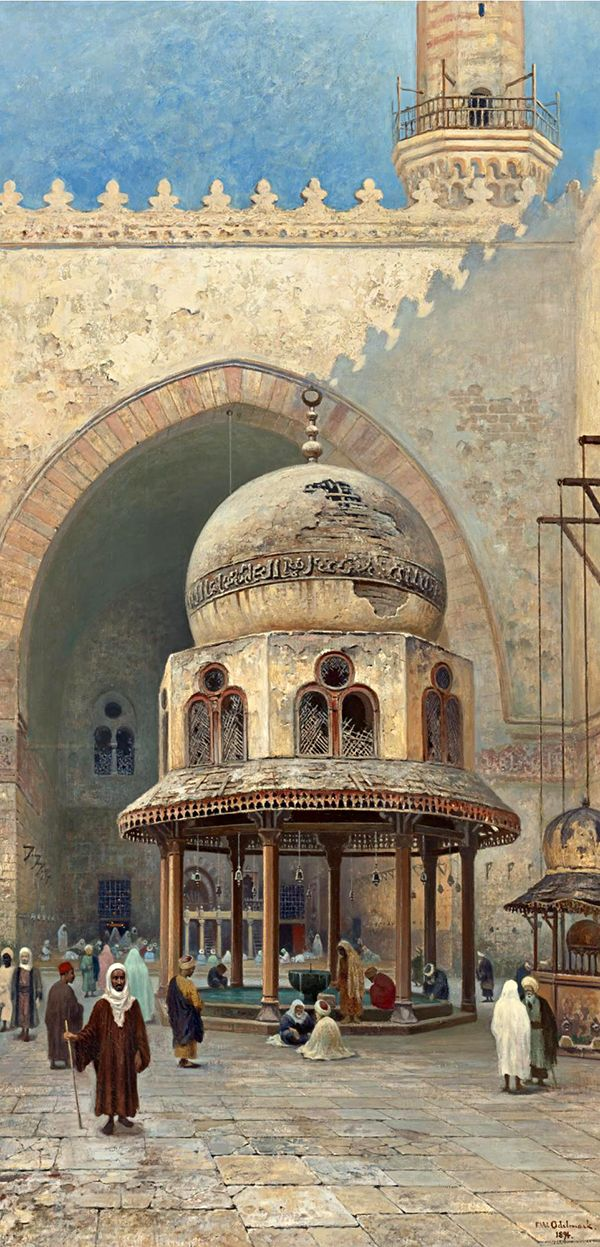 Frans Wilhelm Odelmark (Swedish, 1849-1937). Outside the Mosque, 1894