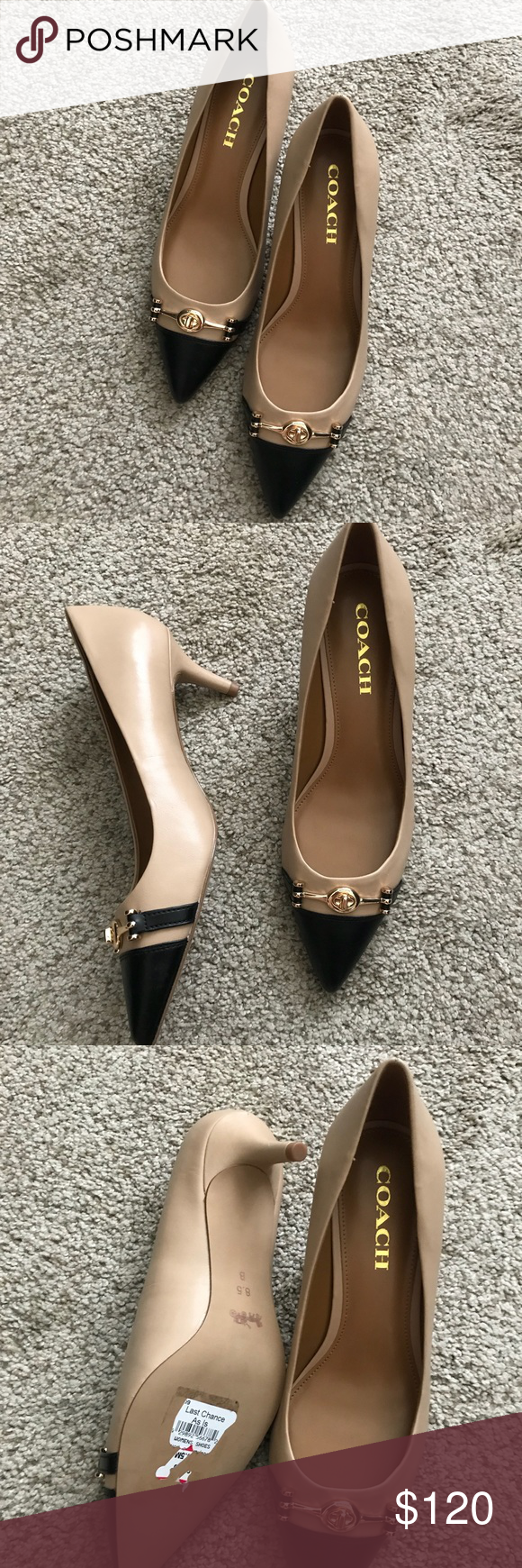 2bdf2ae4e0d Coach Lauri Silky Nappa Leather Kitten Heel Pump Details Sizing  True to  size. -
