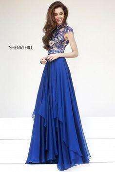 The Peachess Royal Blue Long Evening Dresses US2