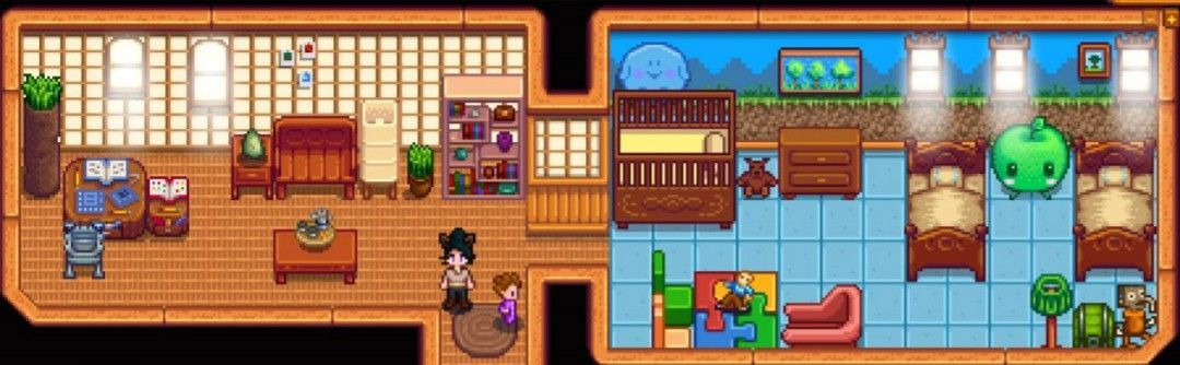 Upstairs level office area  amp children  room gt stardew valley house also  estardew  ehouse rh pinterest