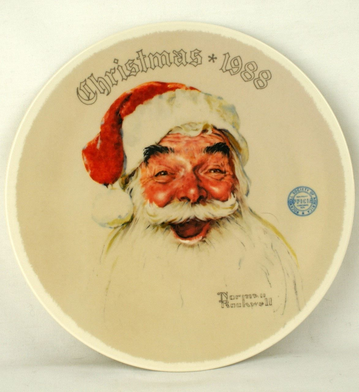 What a classic Santa Claus image! This is a vintage Norman Rockwell ...