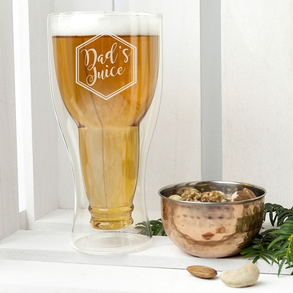 Personalised Engraved Pint Beer Glass /'It/'s Beer O/'Clock/' Gift Boxed