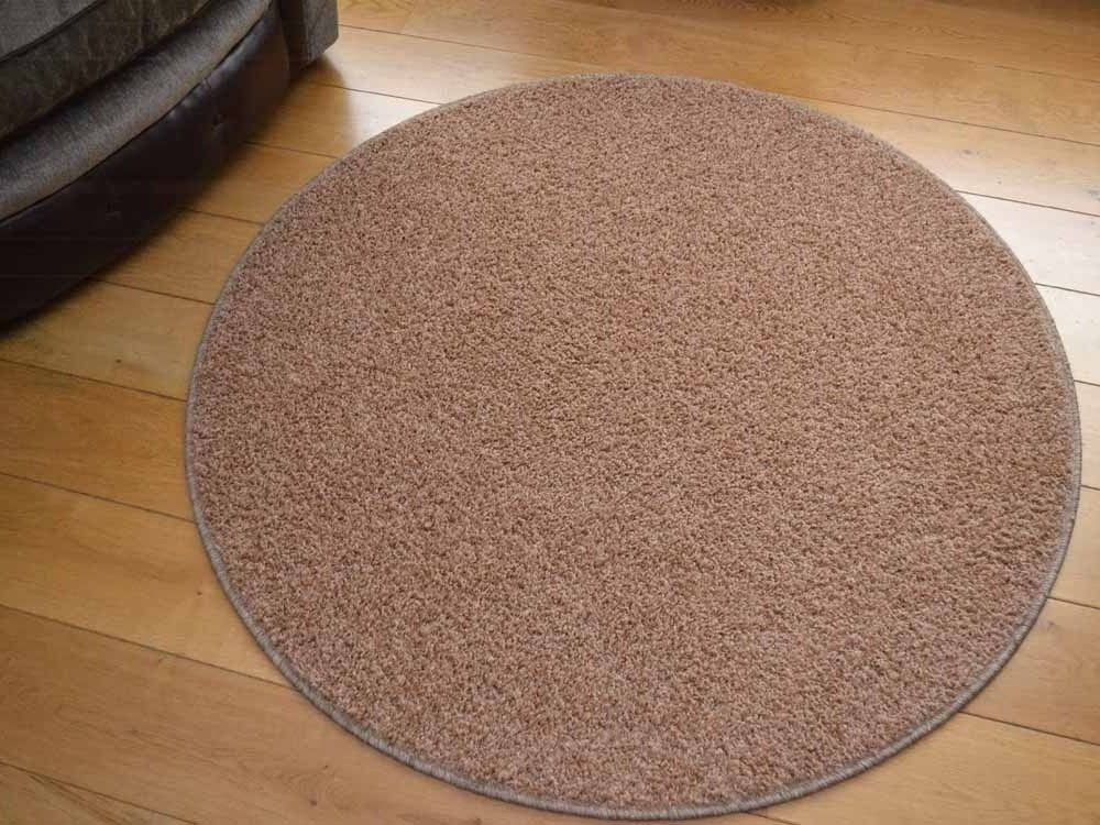 This Light Brown Circular Shaped Rug Would Be The Perfect Fit For Any Area In Home With Added Benefit Of Being Stain Resistant And Water Repellent