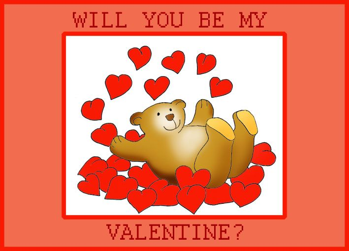Will You Be My Valentine Animated Valentines Bear Valentines Valentine S Cards For Kids