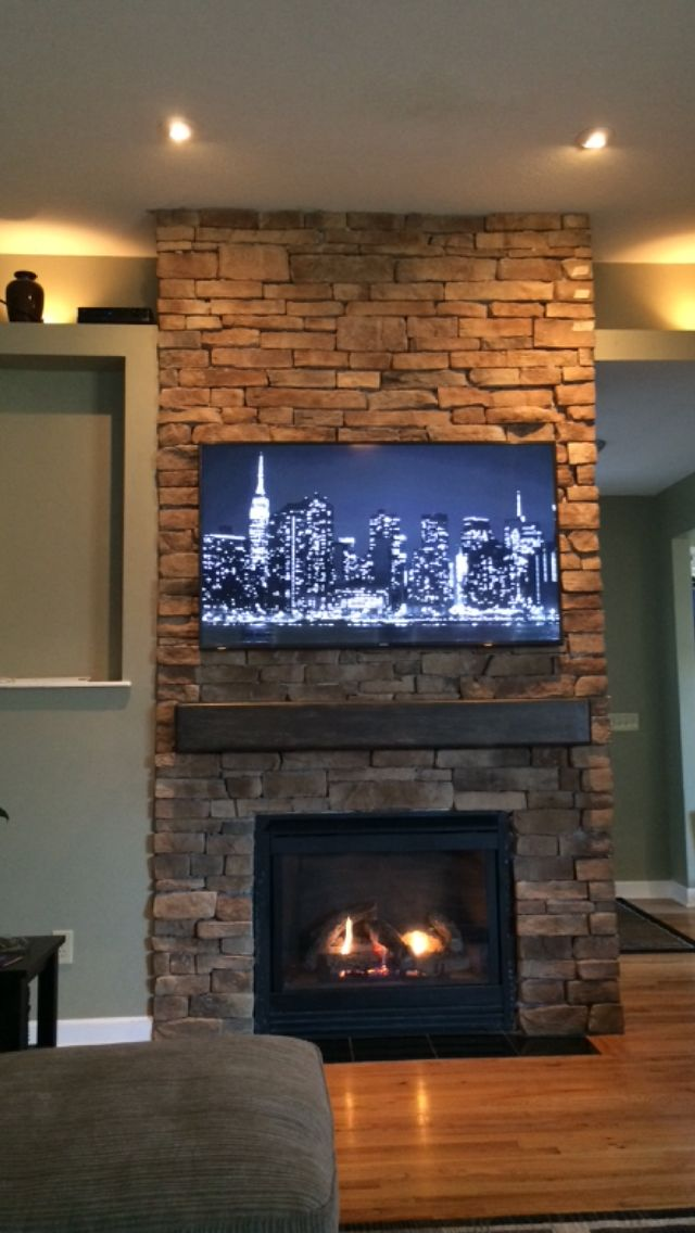 Floor To Ceiling Stone Fireplace Diy Remodel Ideas Stacked