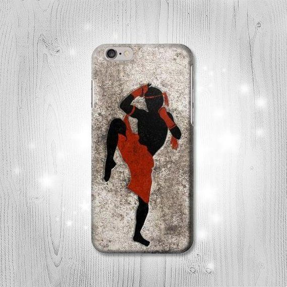Muay Thai Kickboxing Martial Art Hard & Leather Flip Case iPhone 11 12 Pro Max Samsung Galaxy S21 No