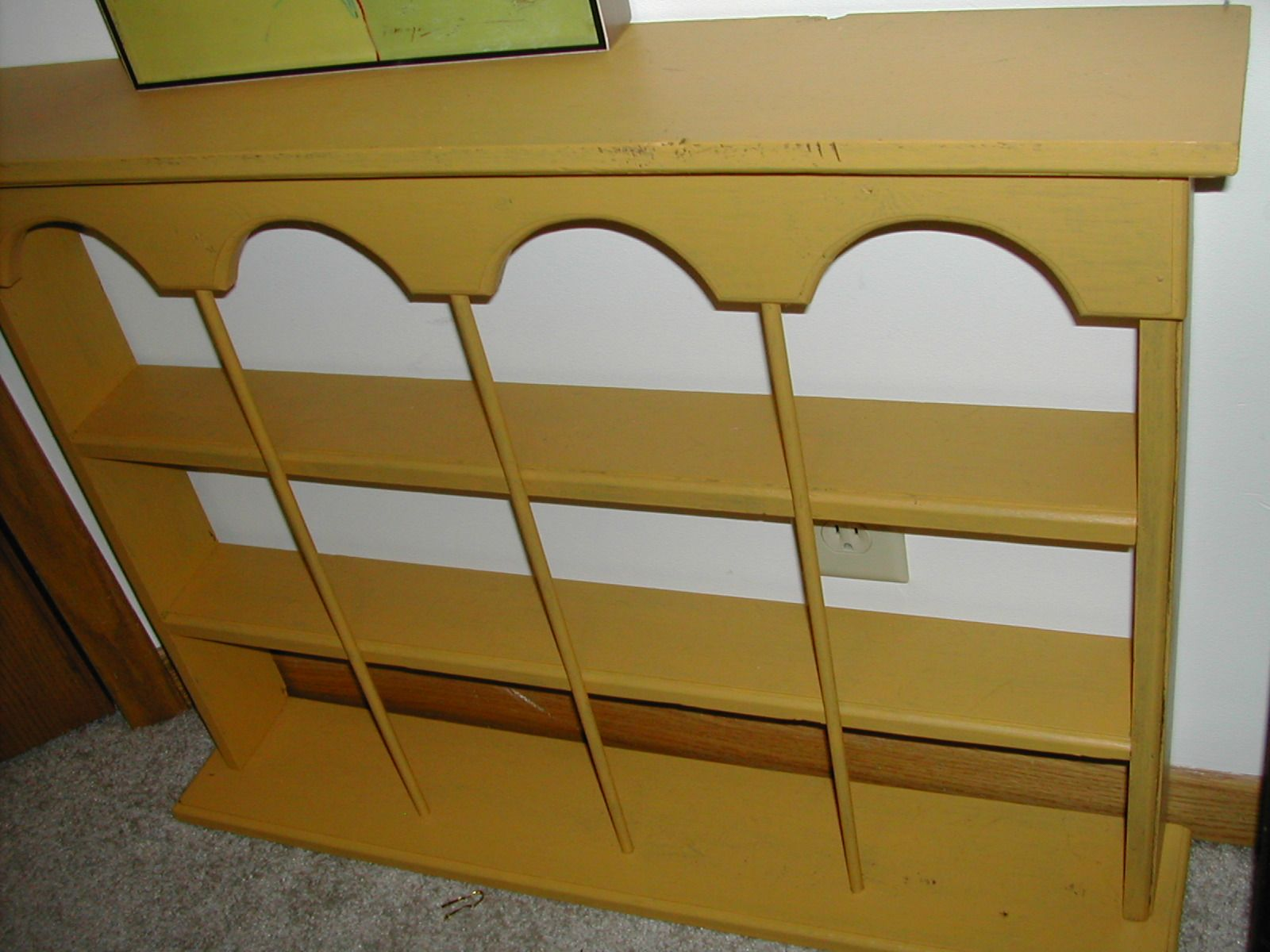 Cute mustard color wall shelf. Can repaint.. | Props for Rental ...