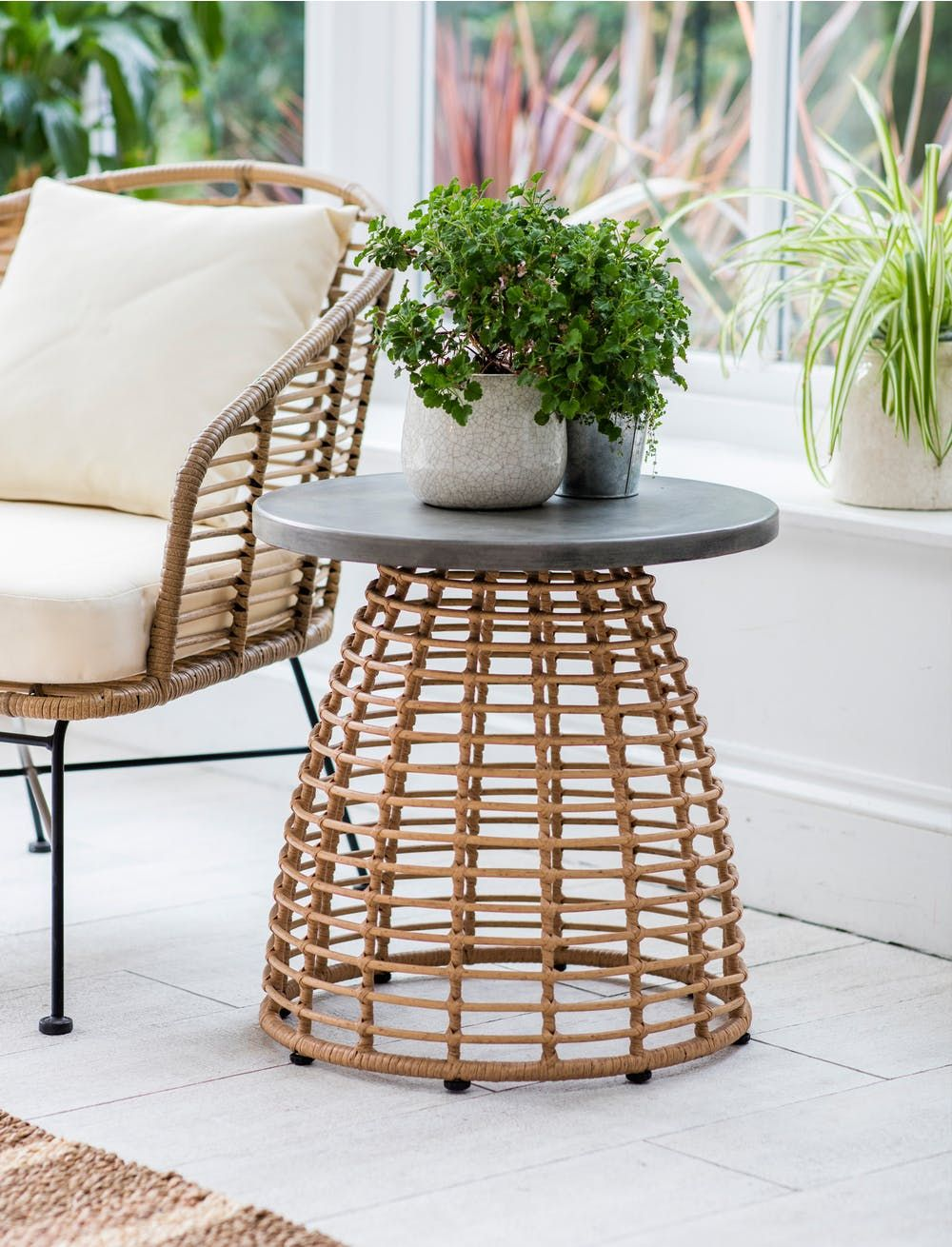 Hampstead Side Table Side table, Garden chairs metal