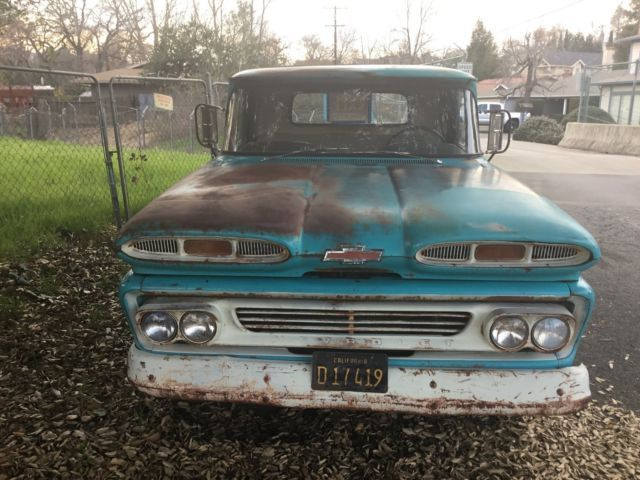 1960 chevy truck c 10 short fleet apache barn find 60 1962 1963 for sale photos. Black Bedroom Furniture Sets. Home Design Ideas