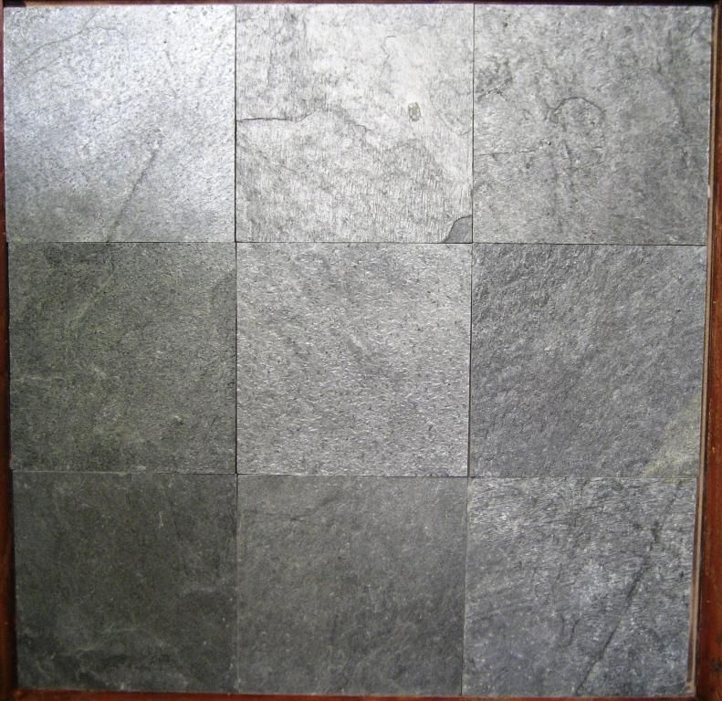 Ostrich Grey Slate Tile For The Rest Of The Bathroom Floor