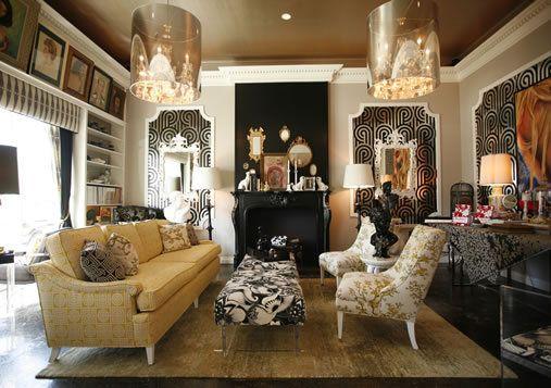 Old Hollywood Decor Style Retro Living Rooms Retro Interior Design Glamour Decor