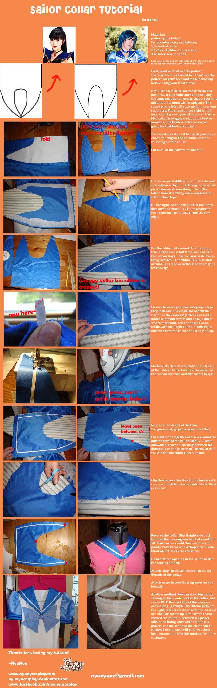sailor collar tutorial by on. Black Bedroom Furniture Sets. Home Design Ideas